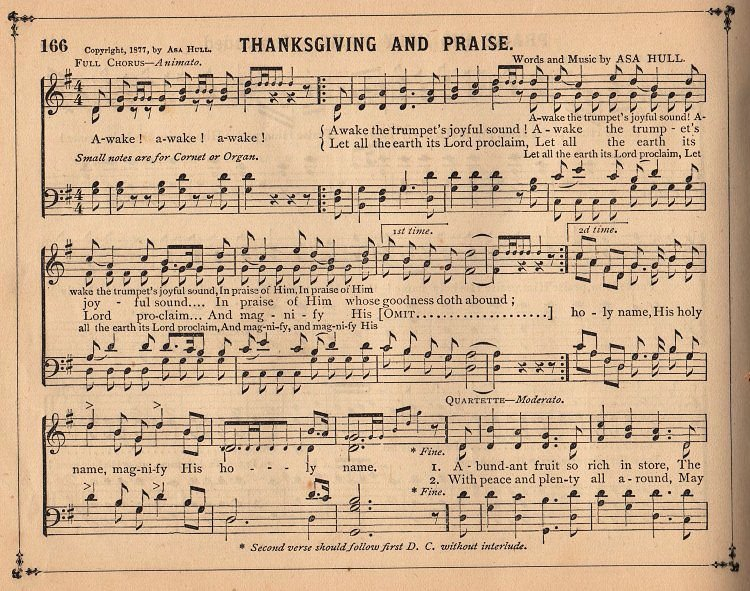 Antique Sheet Music Thanksgiving The Graphics Fairy