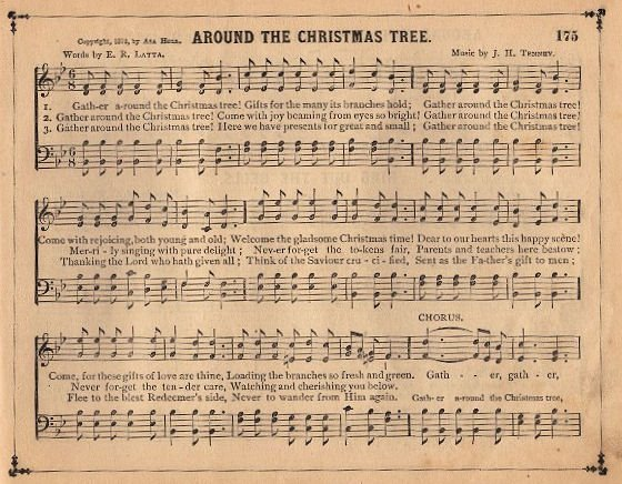 Antique Sheet Music Wallpaper Vintage Graphic – Christmas