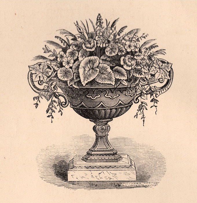Victorian Garden Clip Art Wonderful Urn The Graphics Fairy