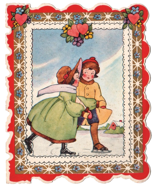 Free Clip Art - Vintage Valentine - The Graphics Fairy