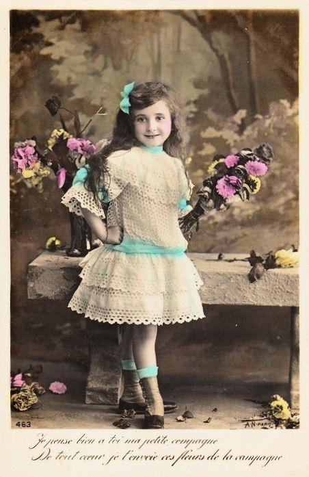 Vintage Postcard Adorable Little Girl The Graphics Fairy