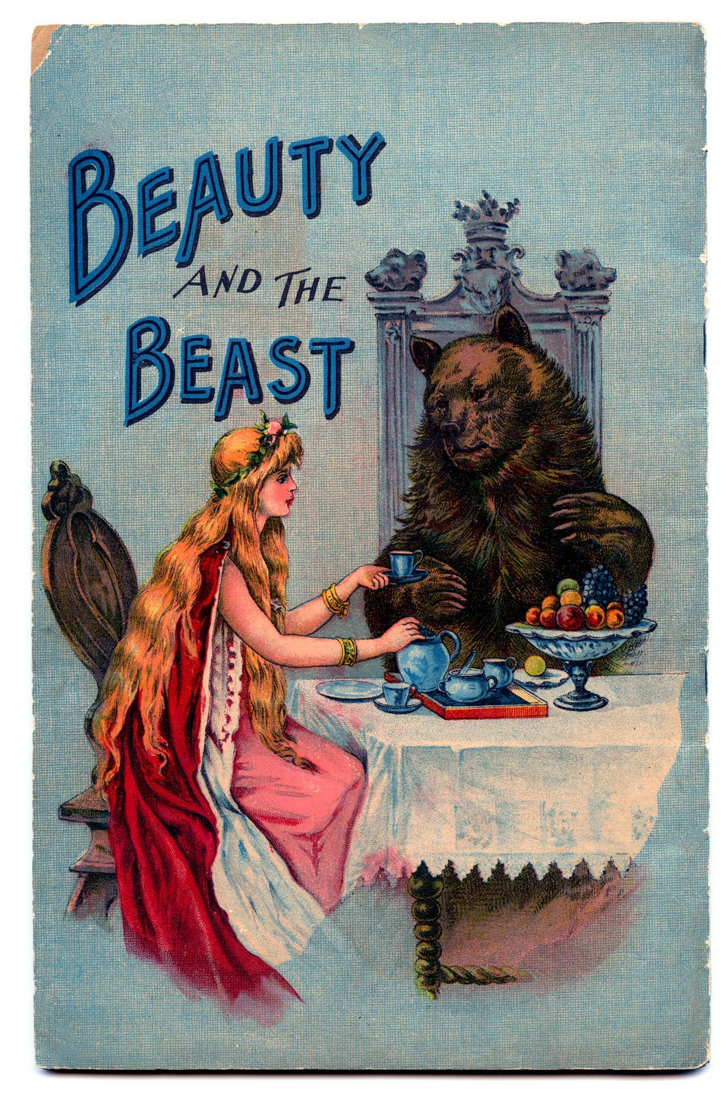 Vintage Book Cover Art ~ Vintage fairy tale clip art beauty and the beast