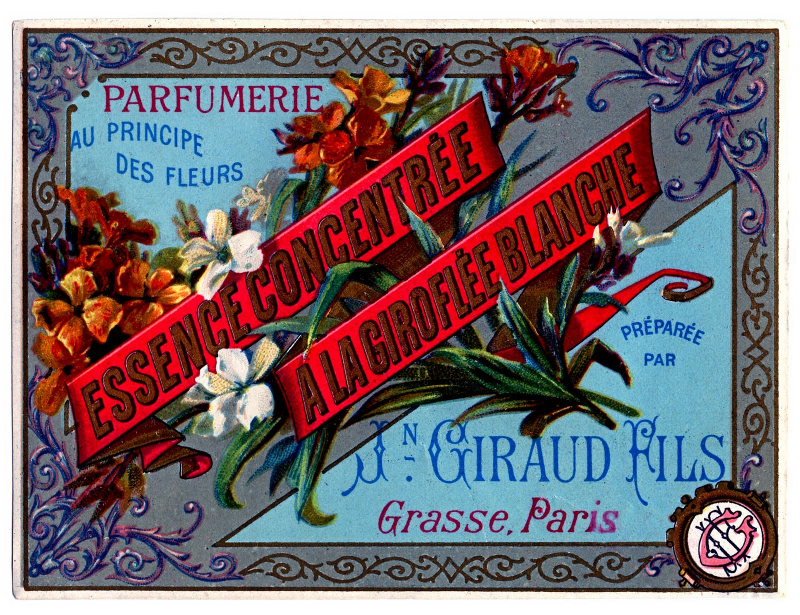 Vintage Clip Art - Paris Label - The Graphics Fairy