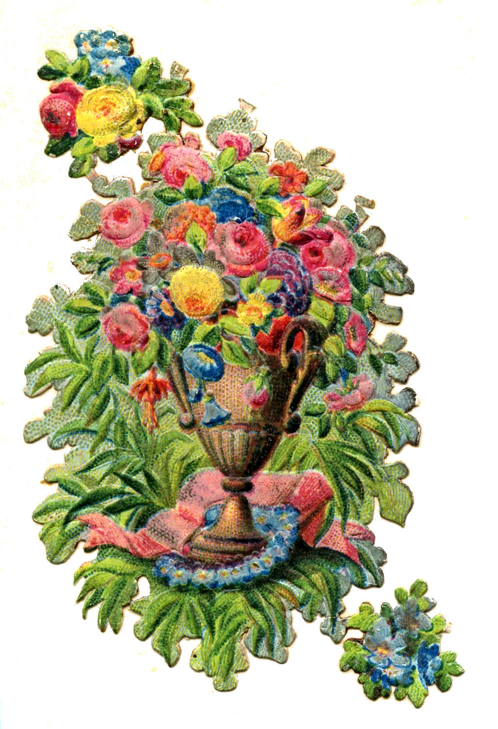 Vintage Clip Art - Scrap Urn with Flowers - The Graphics Fairy