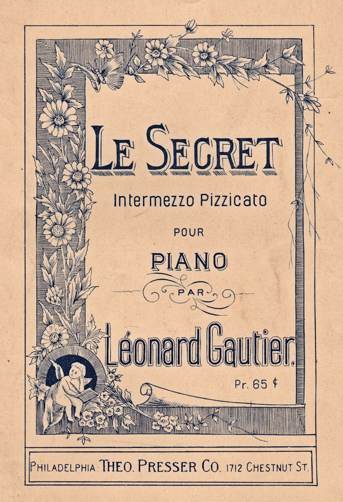 photograph regarding Vintage Sheet Music Printable identify Cost-free Antique Impression - Le Mystery Sheet New music - The Graphics