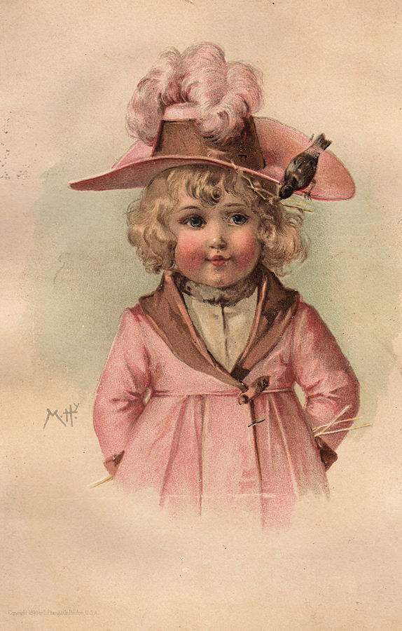 Lovely Victorian Clip Art - Girl with Pink Hat - The ...