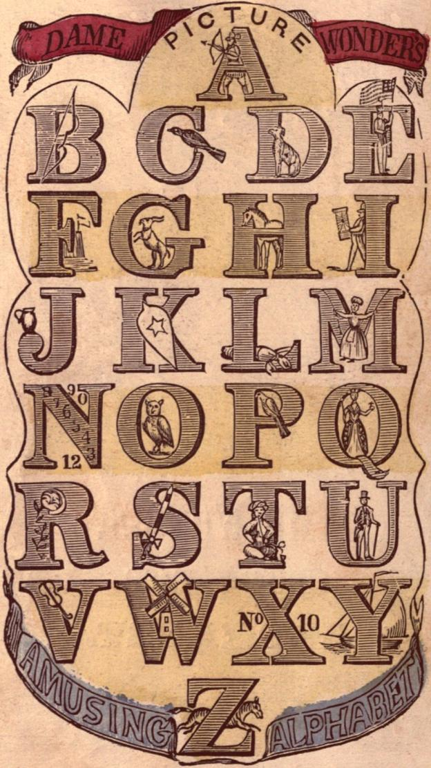 Free Victorian Graphic Early Alphabet Typography The