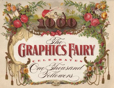 1000 Followers Celebration - Free Digital Collage Sheet  //  The Graphics Fairy