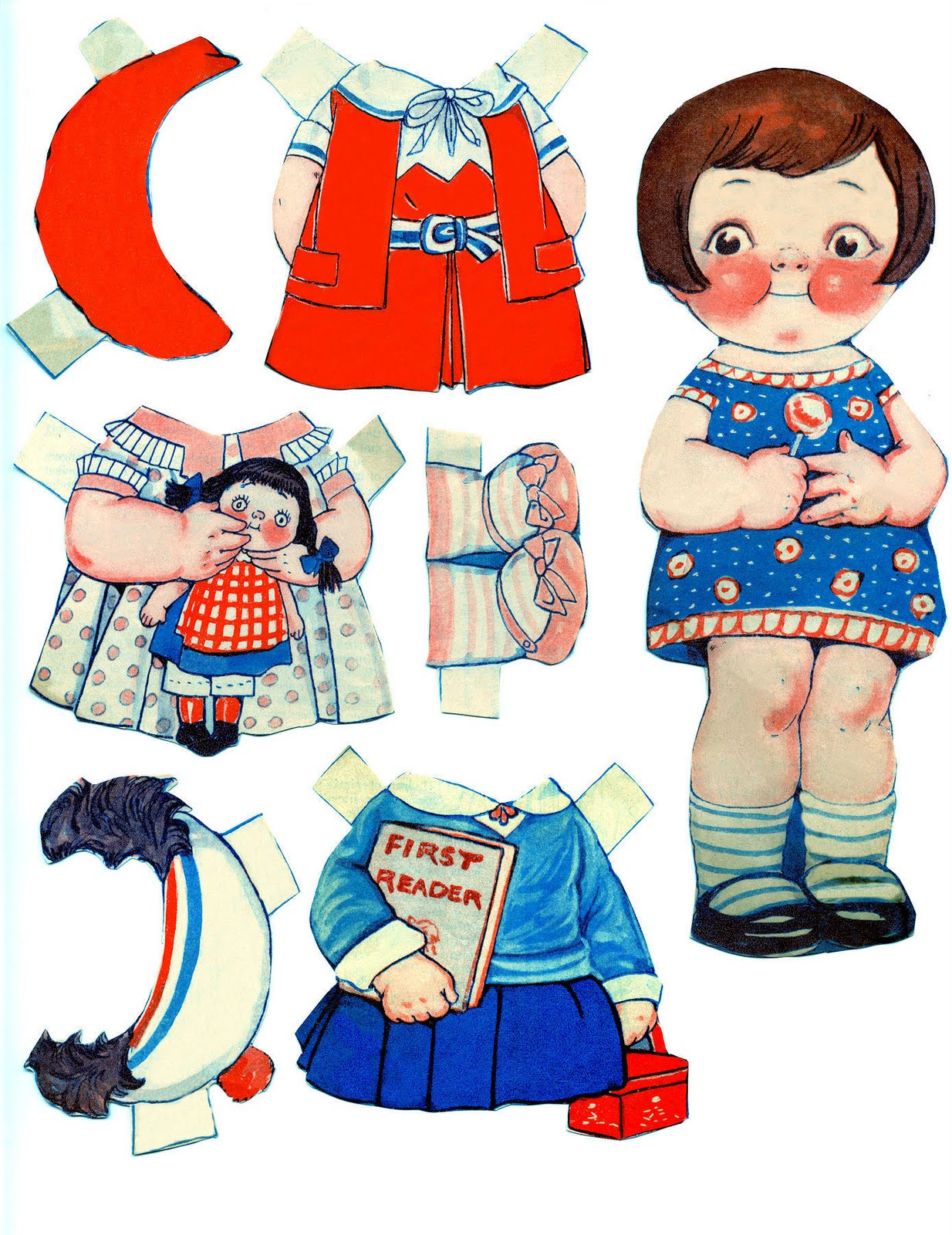 image about Printable Vintage Paper Dolls titled No cost Printable - Traditional Paper Dolls - The Graphics Fairy
