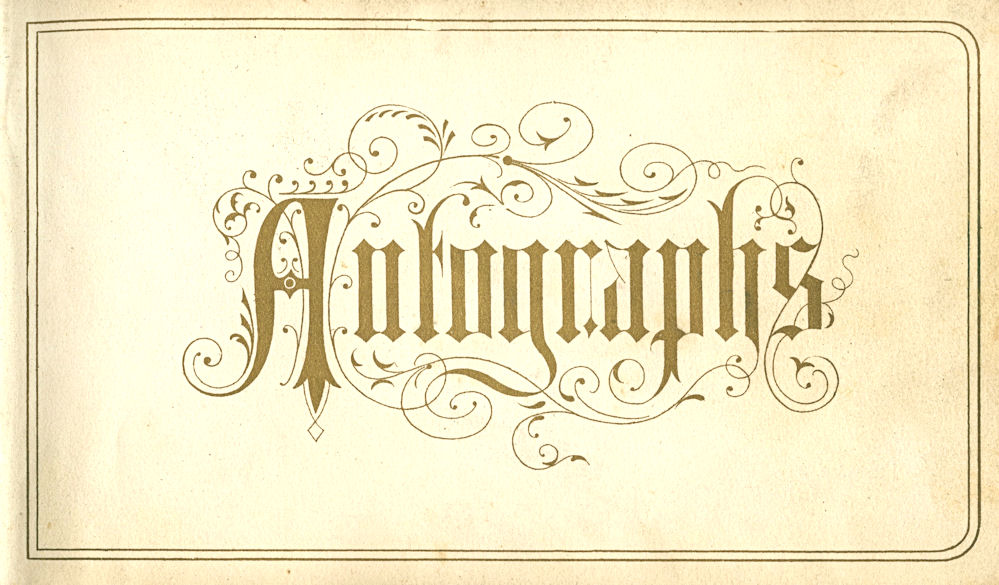 Free Vintage Clip Art - Autographs Page with Scrolls - The ...