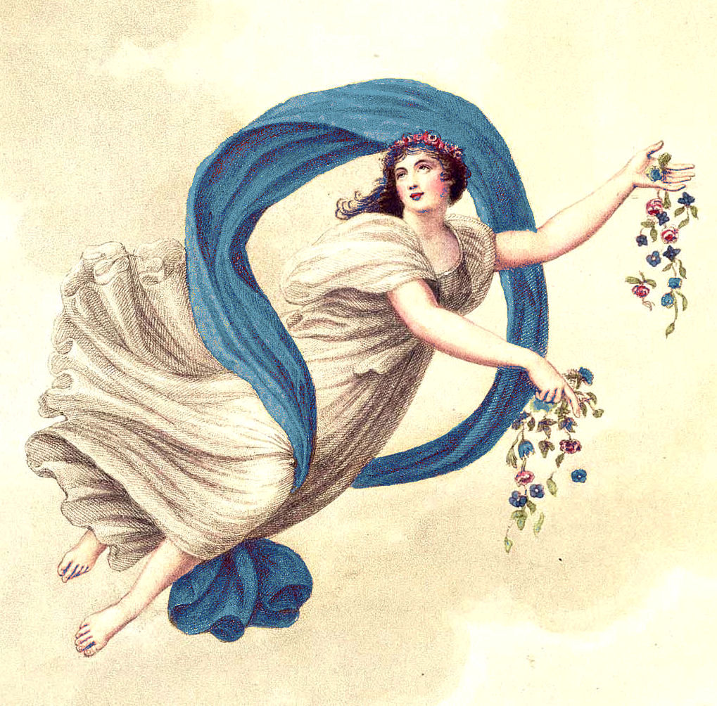 Free Vintage Clip Art Beautiful Goddess