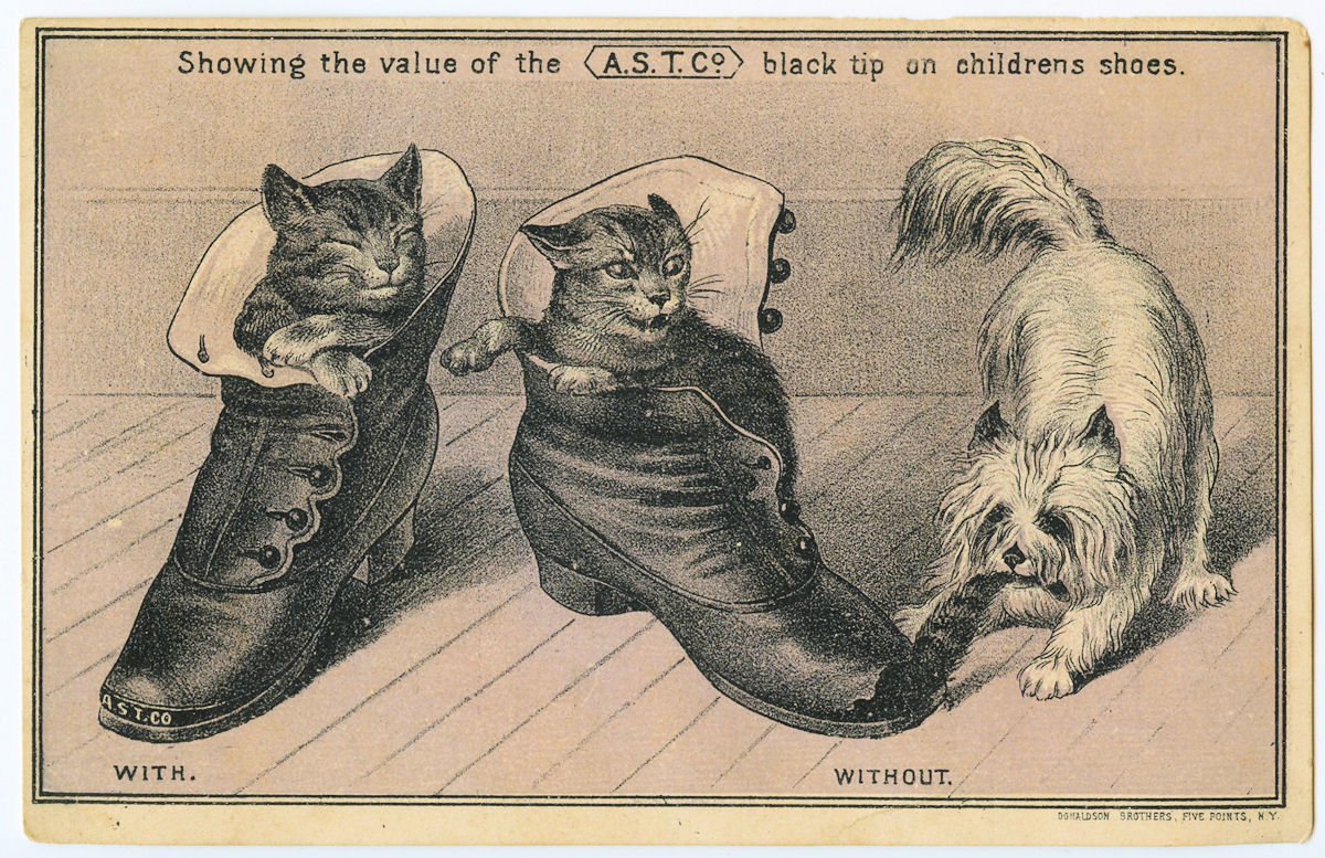 Free Vintage Clip Art Cats Dog And Shoes