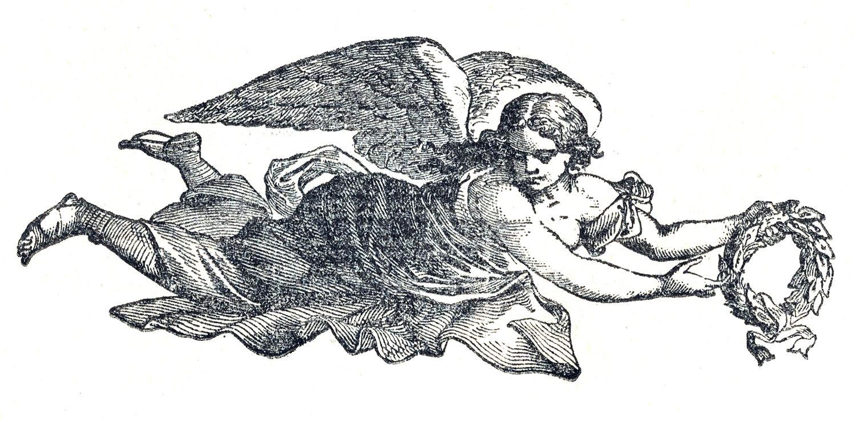 Great Free Vintage Clip Art U2013 Angels U0026 Sheet Music