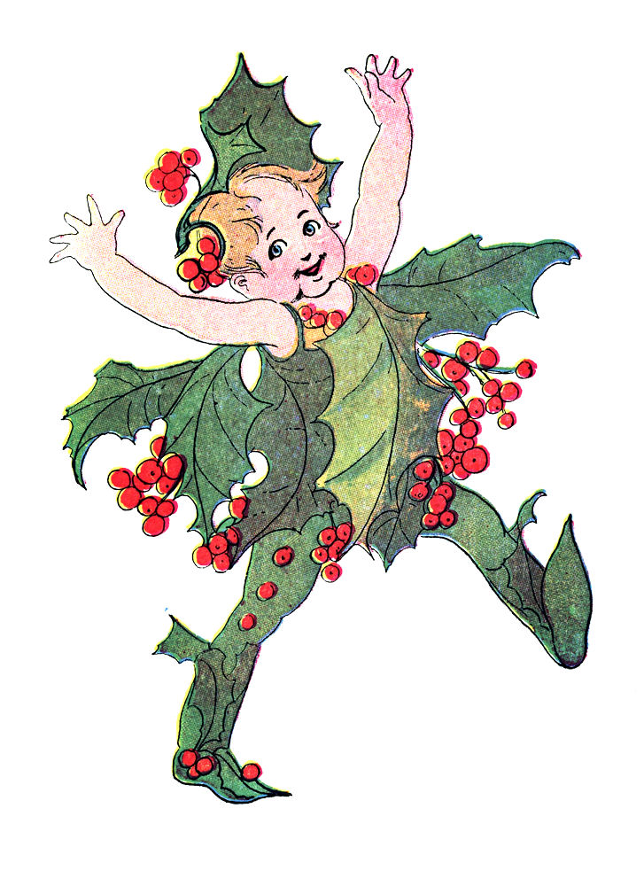 Free Vintage Clip Art - Flower Fairies - Christmas - The ...