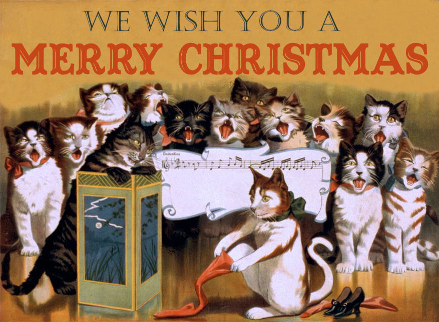 free vintage clip art christmas cats   other assorted Funny Happy Birthday Clip Art Funny Birthday Clip Art
