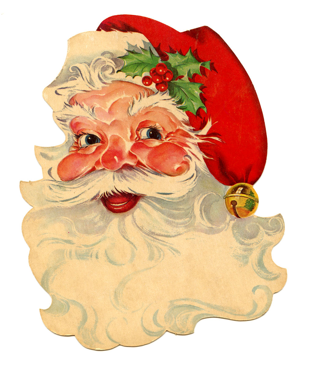 Free vintage clip art santa the