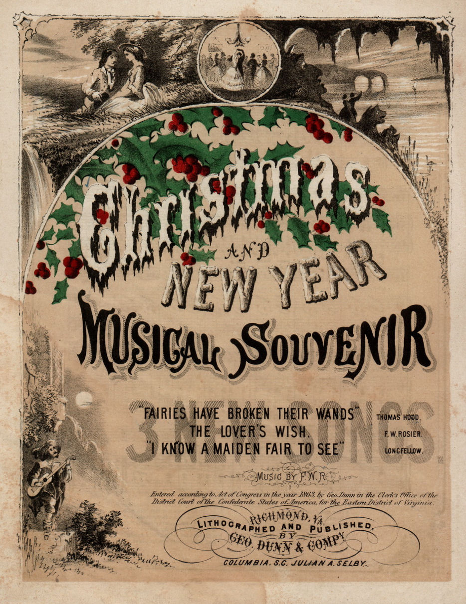 Free Vintage Clip Art - Christmas Sheet Music - The Graphics