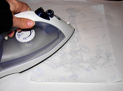 Ironing Transfer with Iron