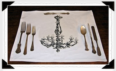 Finished Chandelier Place Mat
