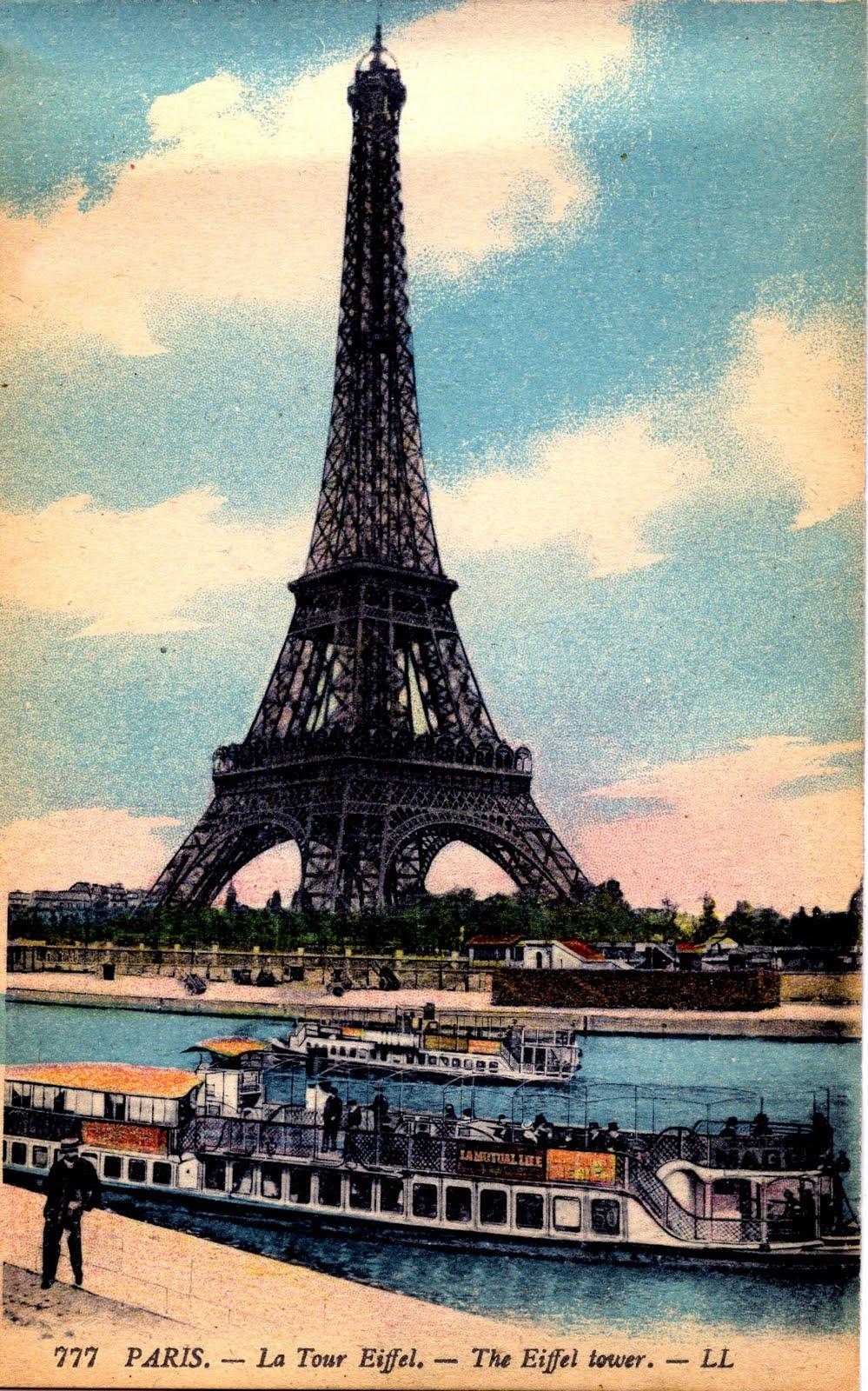 Antique Paris Image Eiffel Tower The Graphics Fairy