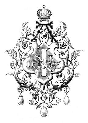 black and white clip art ornament