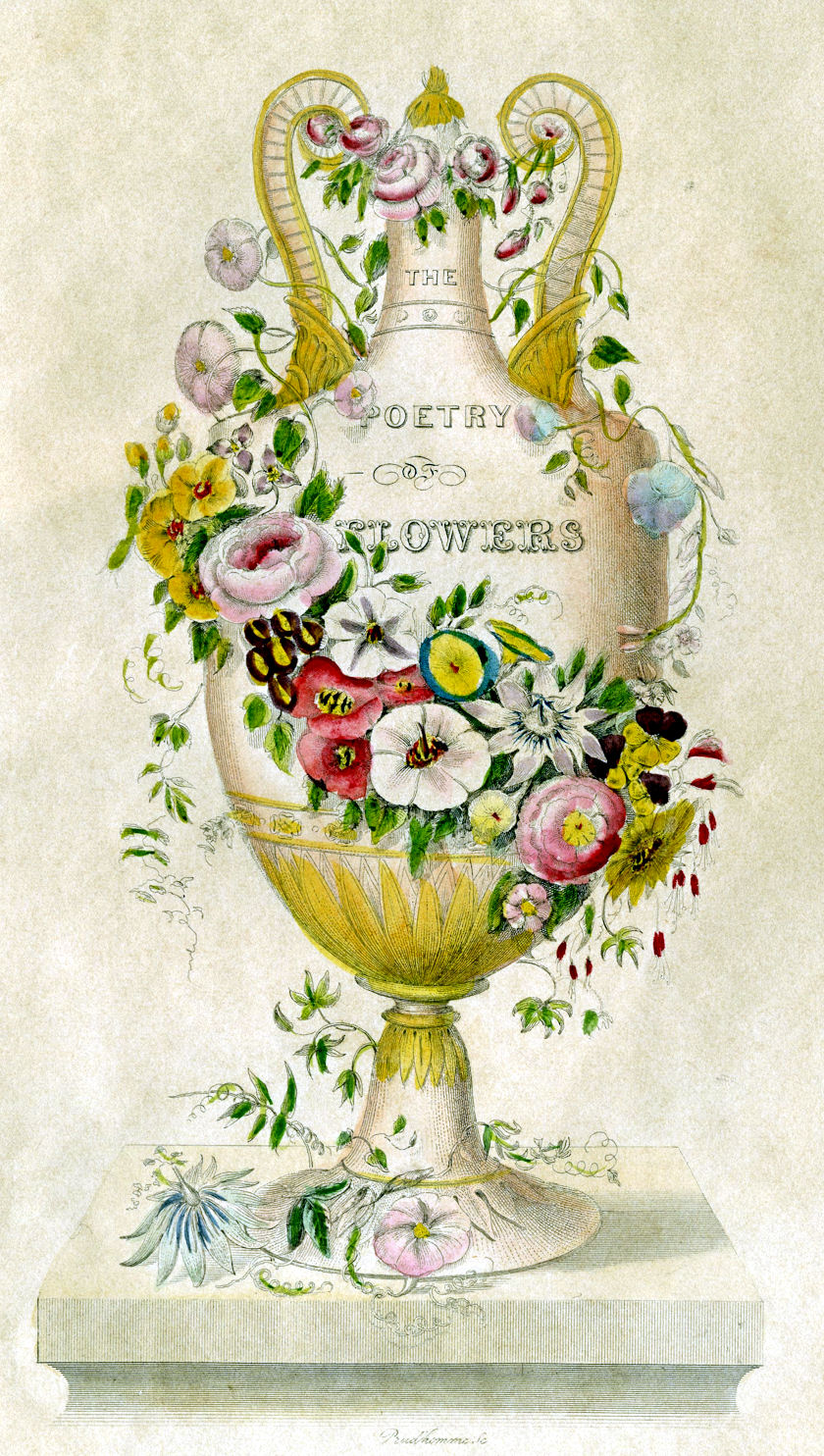 Victorian Clip Art - Poetry of Flowers - Urn - The ...