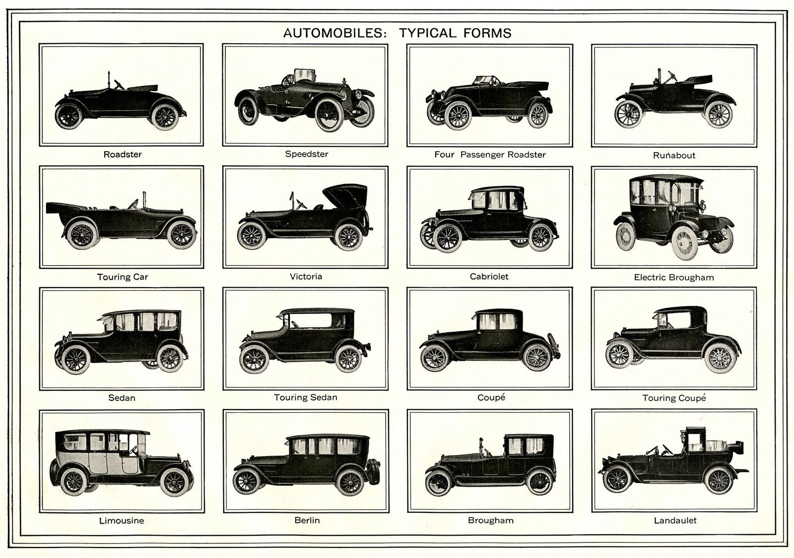 Vintage Father\'s Day Clip Art - Old Automobiles - The Graphics Fairy
