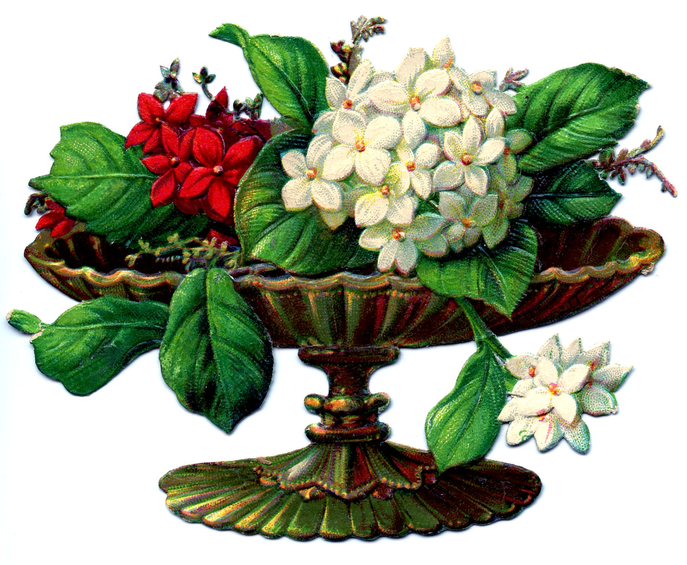 Victorian Clip Art - Flowers in Urns - The Graphics Fairy