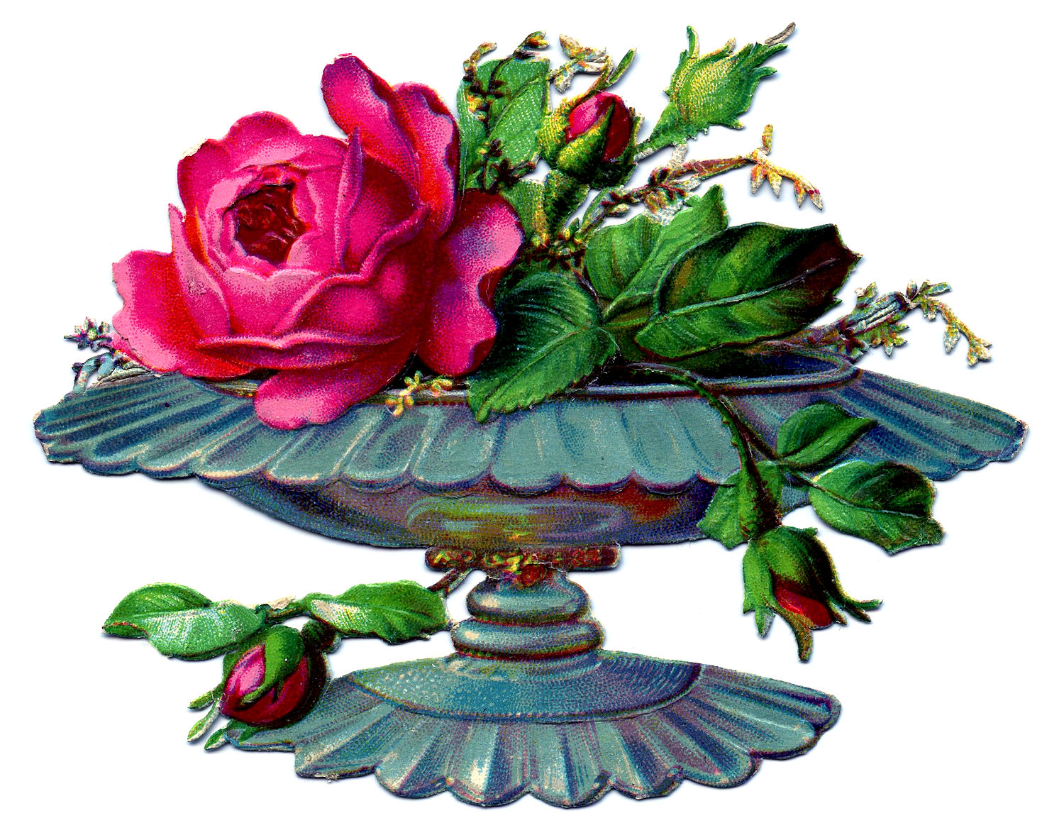 Victorian Clip Art Flowers In Urns The Graphics Fairy