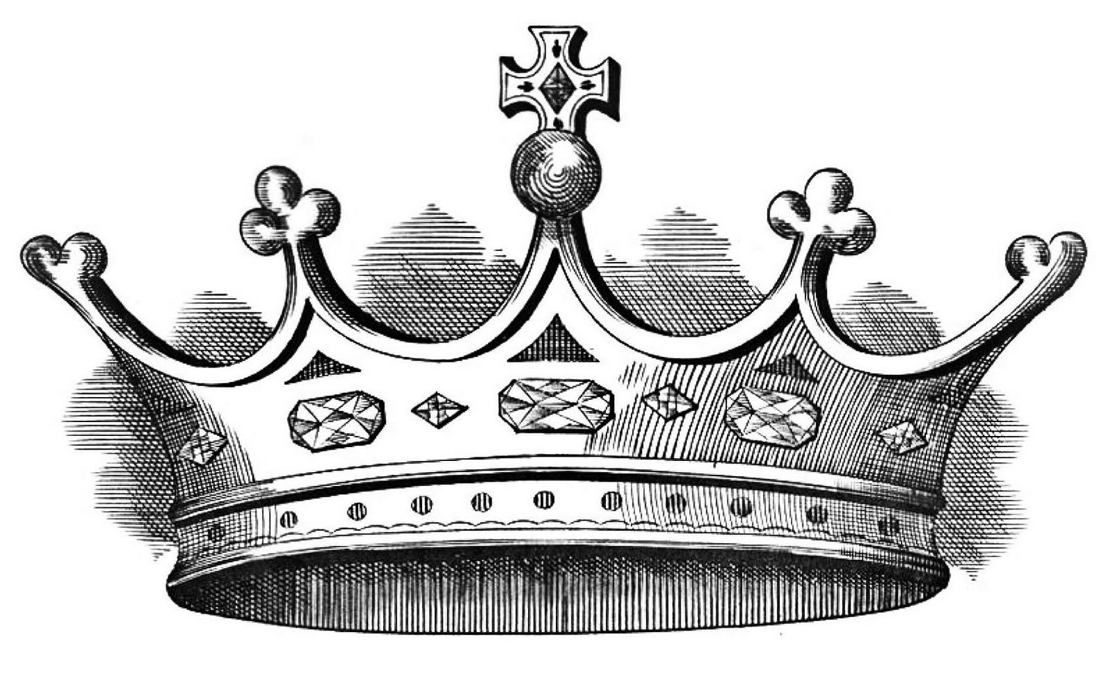 Crown black and white clipart - photo#51