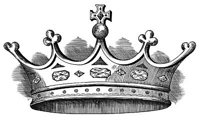 free vintage clip art crown