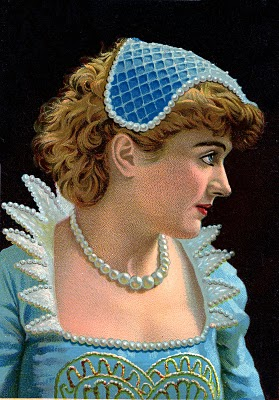 Elizabethan woman in costume