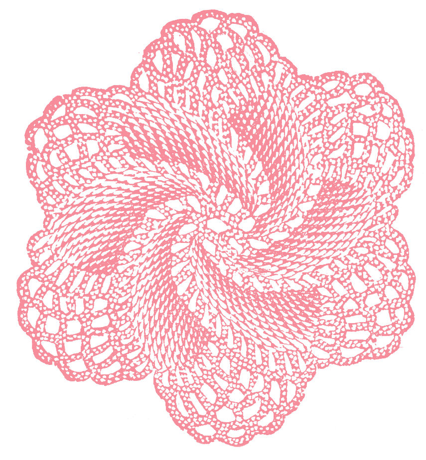 Crochet Thread Rose Pattern Free : Rose Whirl Doily Vintage Crochet Pattern Pictures to pin ...