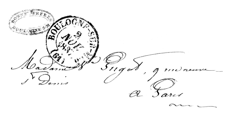 Vintage Ephemera Clip Art Paris Letter With Postmark on T Transportation Letter Printables