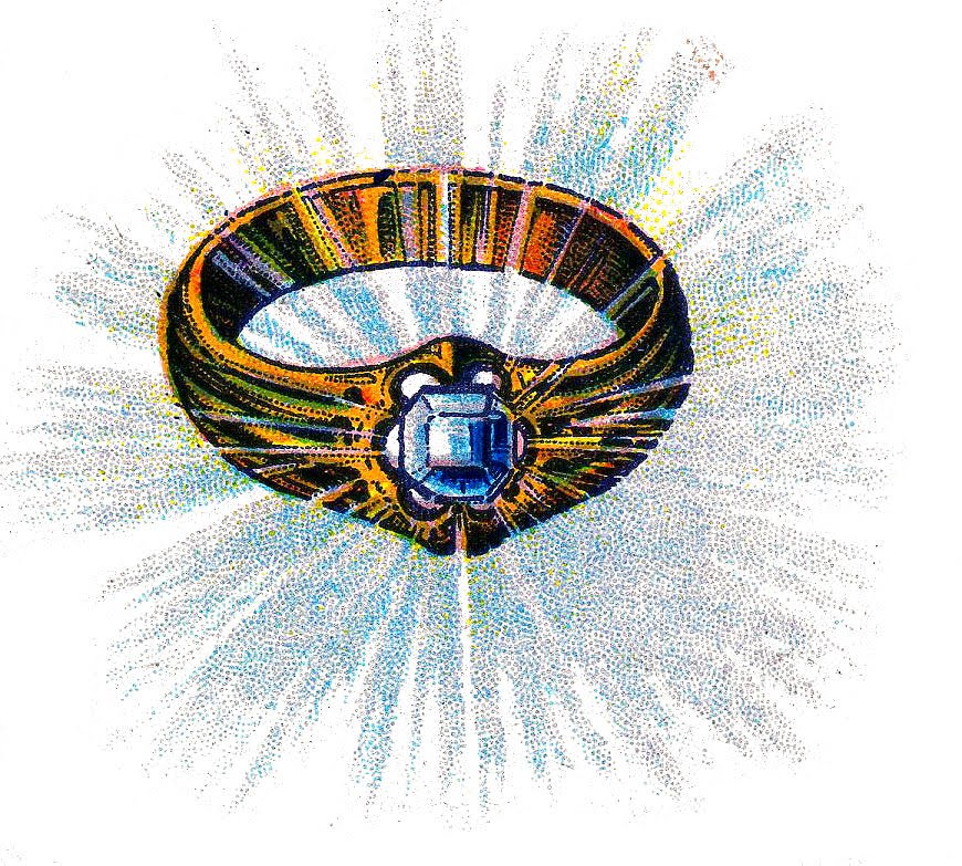 Vintage Clip Art Awesome Diamond Ring The Graphics Fairy