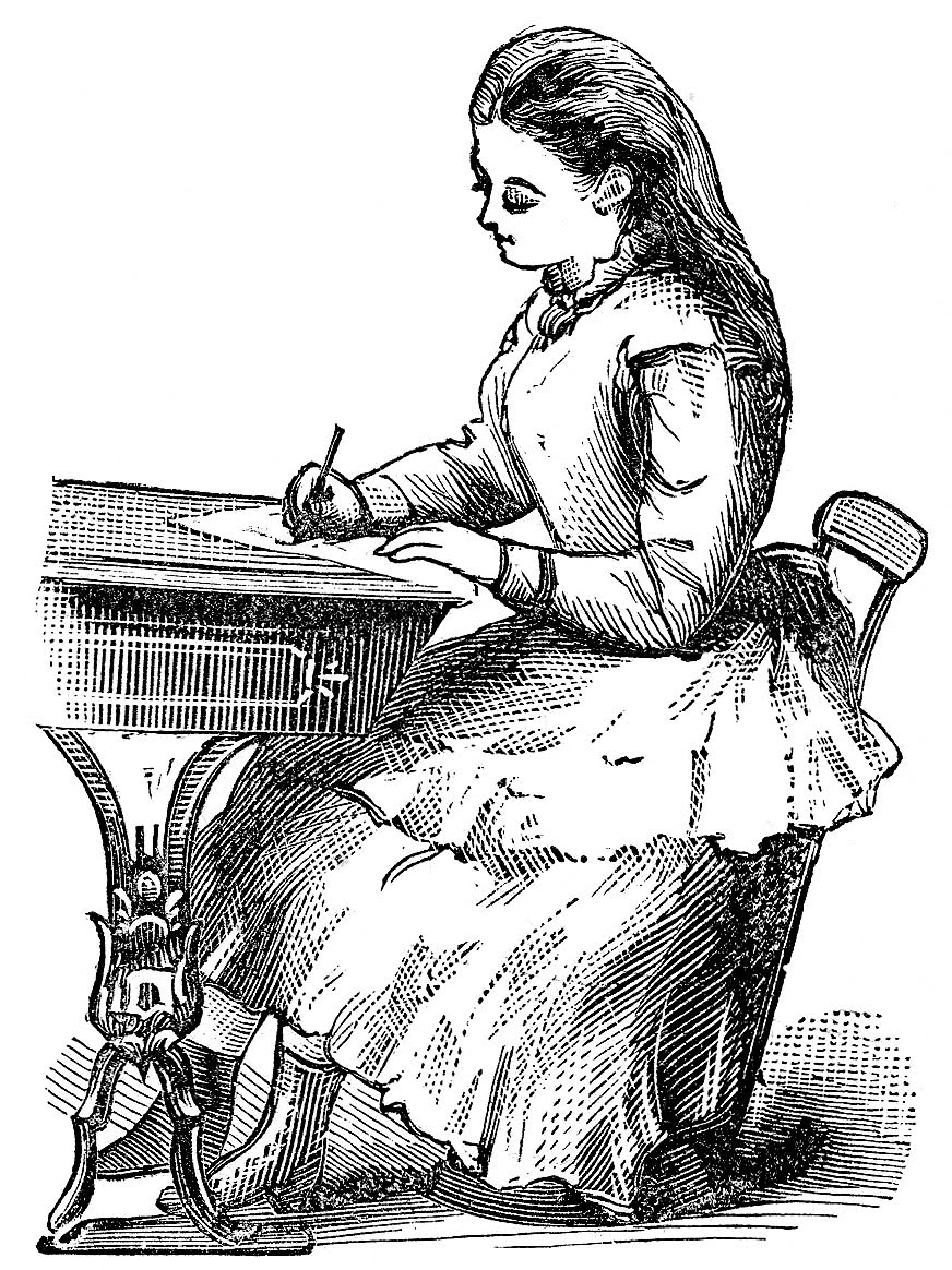 Victorian Clip Art Vintage Back To School Graphics The