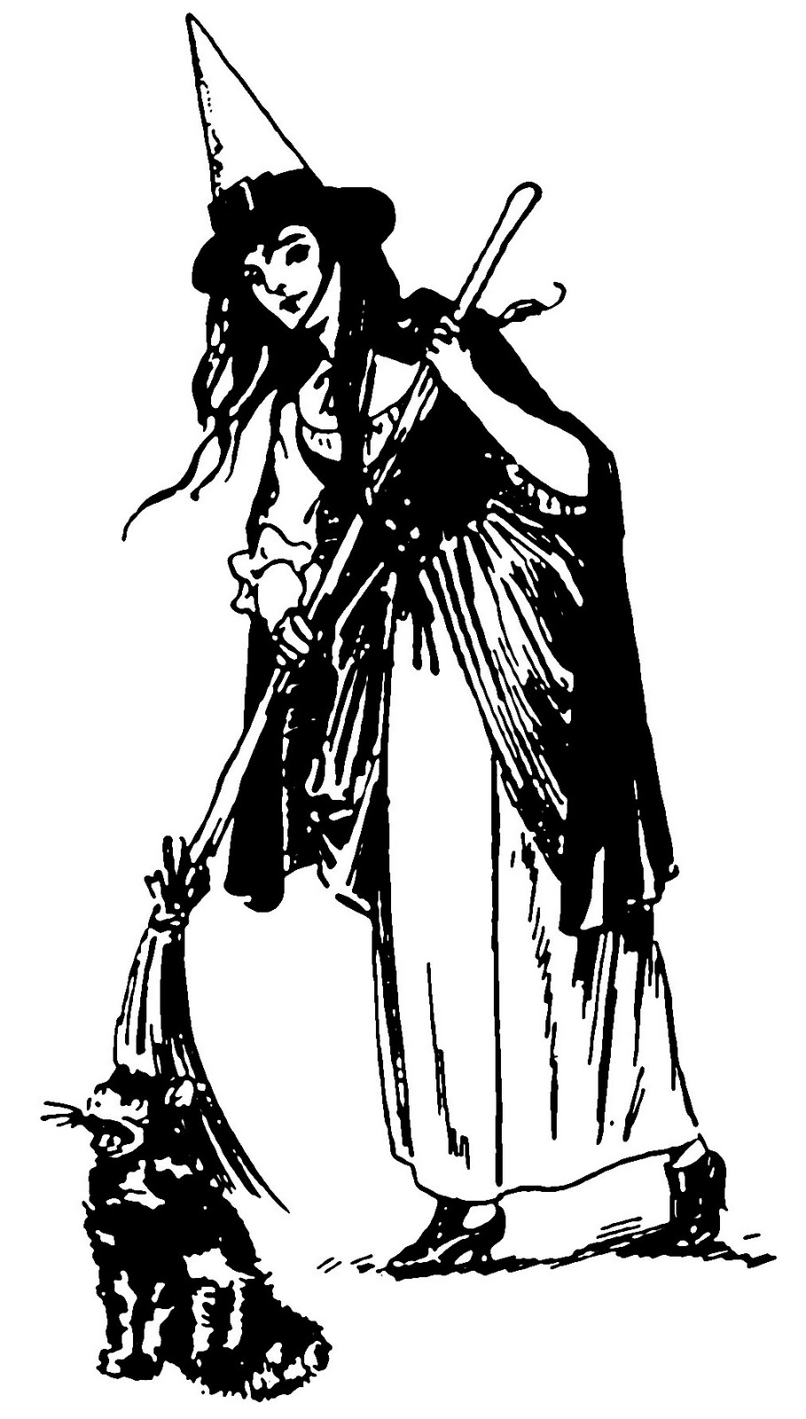 This Pretty Witch Is From An Antique Newspaper Article That Had Suggestions For Halloween Costumes