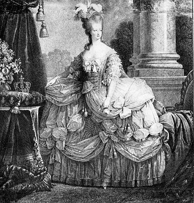 Marie Antoinette Marie Antoinette Black And White Painting