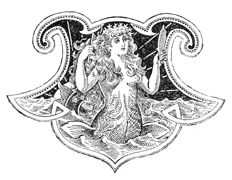 Charming Free Antique Clip Art U2013 Beautiful Mermaid