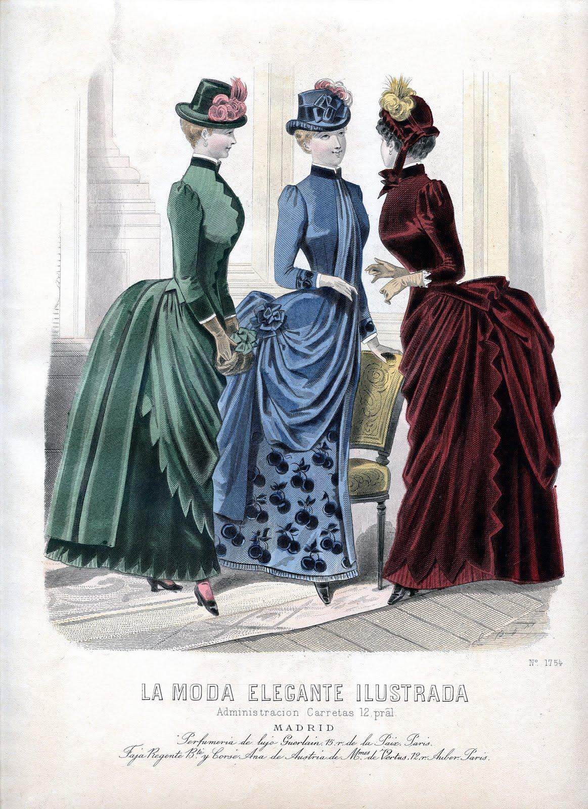 Vintage Clip Art Victorian Fashion Plate