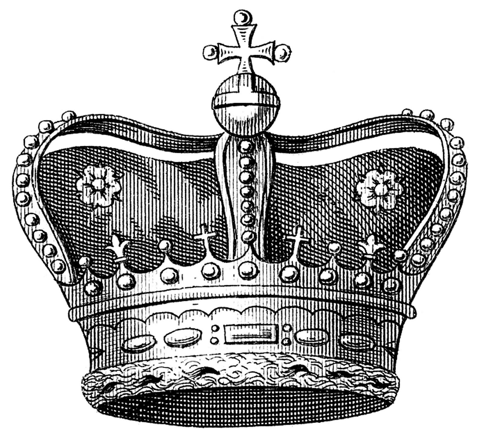 Vintage image download royal crown the graphics fairy - Clipart couronne ...