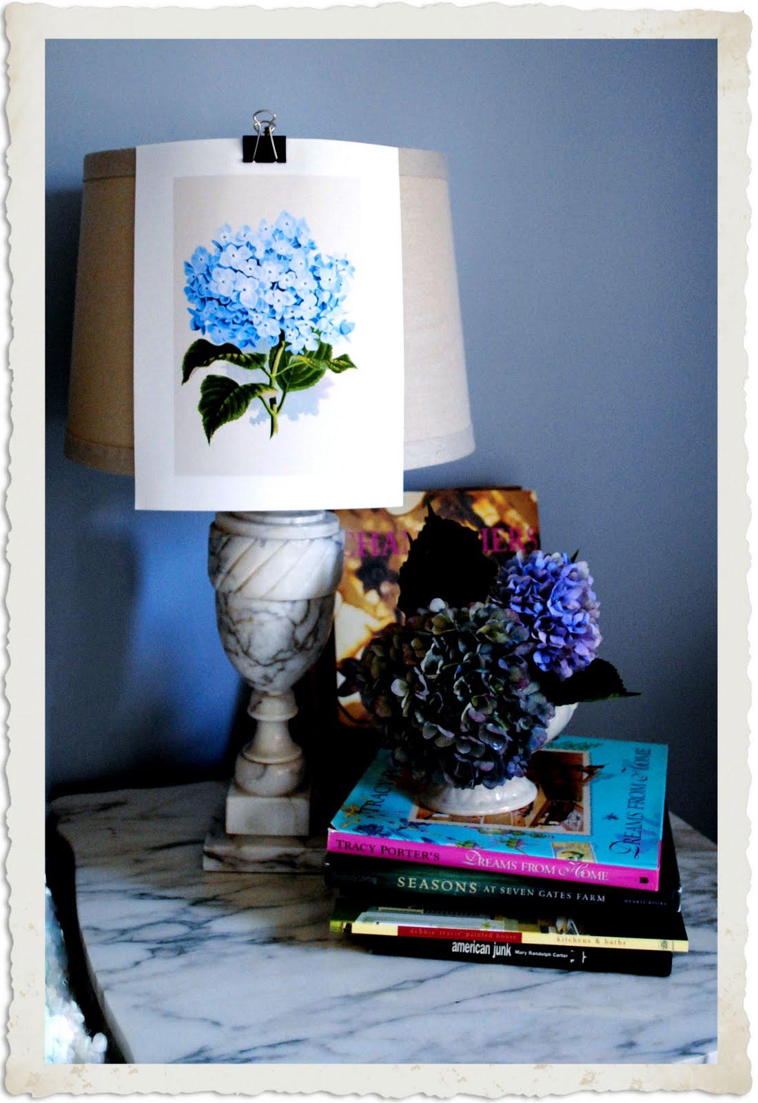 Instant Art Printable Download Blue Hydrangea Botanical