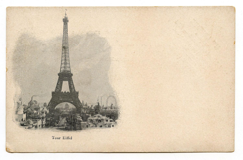 Vintage Eiffel Tower Postcard The Graphics Fairy