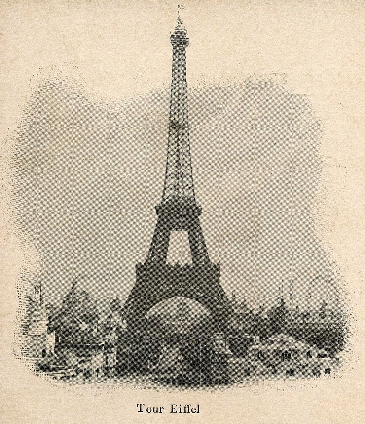 Vintage Eiffel Tower Postcard The Graphics Fairy