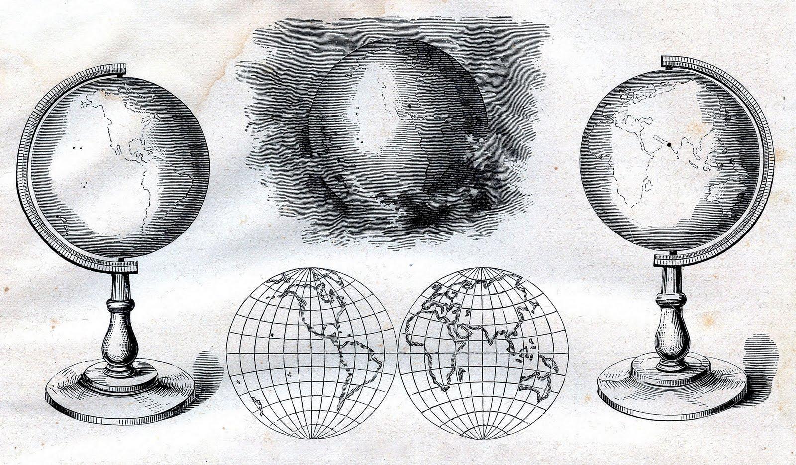 Vintage Globe Illustration