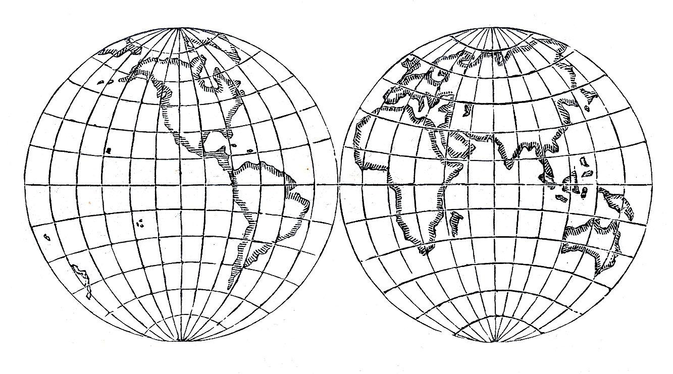Line Art Globe : Vintage clip art globes earth steampunk the