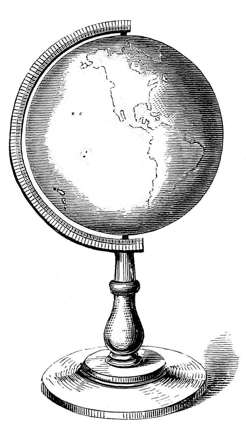 Vintage clip art globes earth steampunk the graphics fairy vintage clip art globes earth steampunk gumiabroncs Image collections