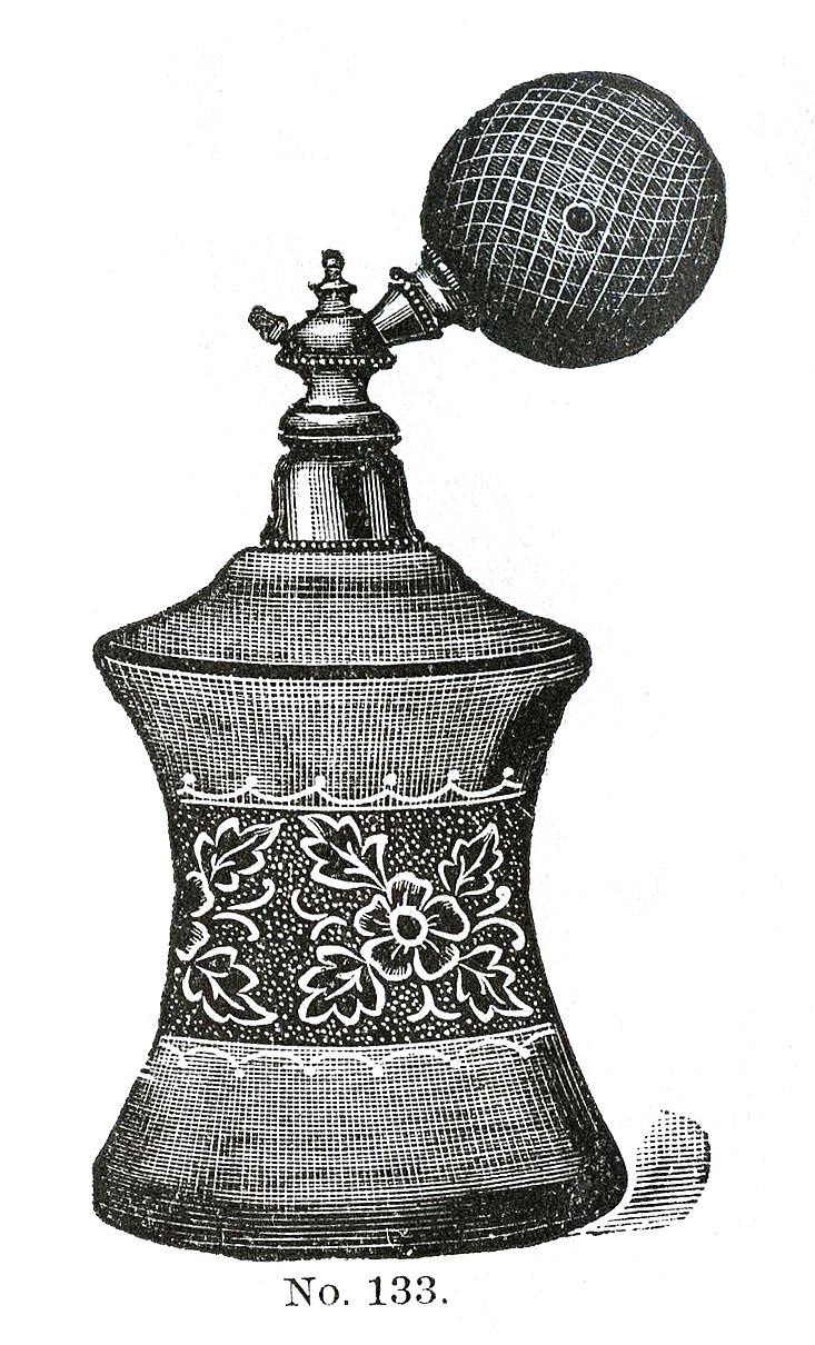 Victorian Clip Art - 3 Perfume Bottles with Atomizers - The Graphics ...