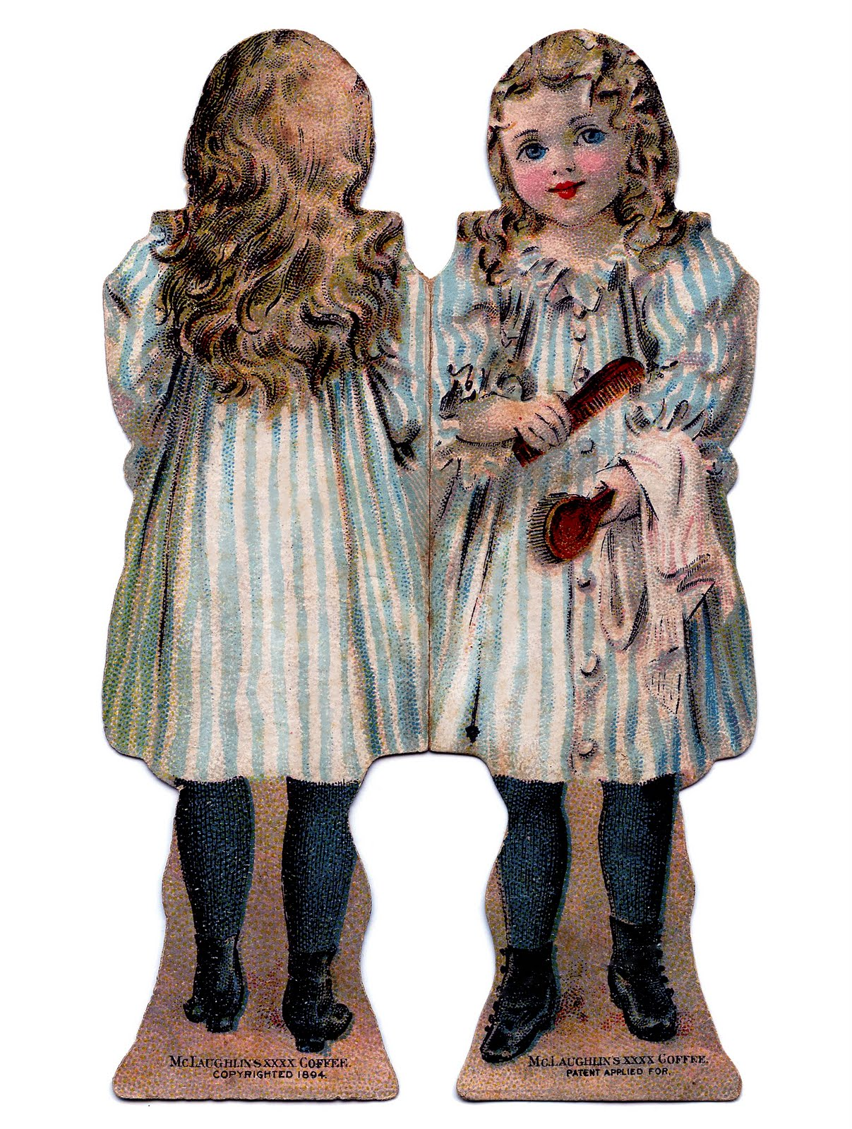 graphic relating to Printable Vintage Paper Dolls known as Traditional Youngsters Printable - Mini Paper Dolls - The Graphics Fairy