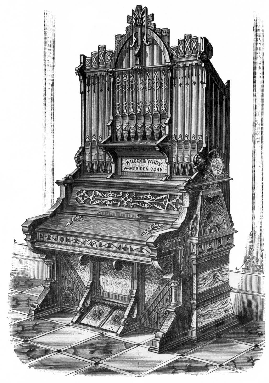 Organ Pipes Drawing Organ Pipes Graphic